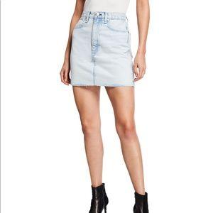 Rag & Bone Moss High-Rise Denim Skirt  Size 28 NWT